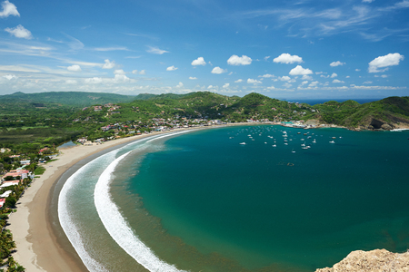 resort san juan del sur view from top on sunny day