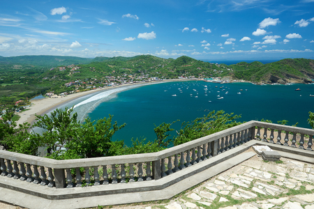 view from the christ of San Juan del Sur bay Nicaragua