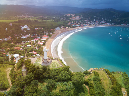 Bright sunny day in Nicaragua resort city San Juan Del Sur