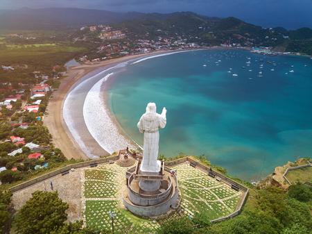 Panorama cityscape of san juan del sur in Nicaragua