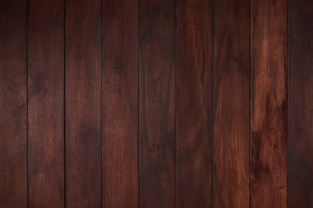 Photo for Flat empty wooden surface with dark brown color plank - Royalty Free Image