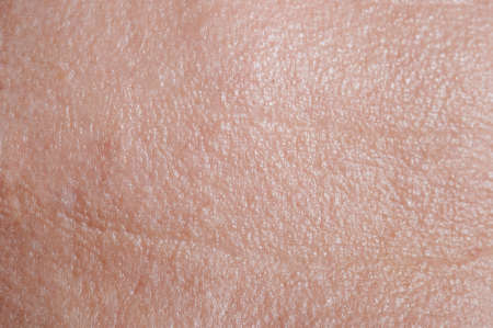 Photo pour Skin on forehead with wrinkles macro close up view - image libre de droit