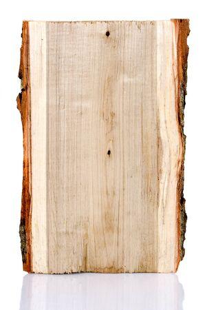 Foto de Poplar tree log on a white background - Imagen libre de derechos