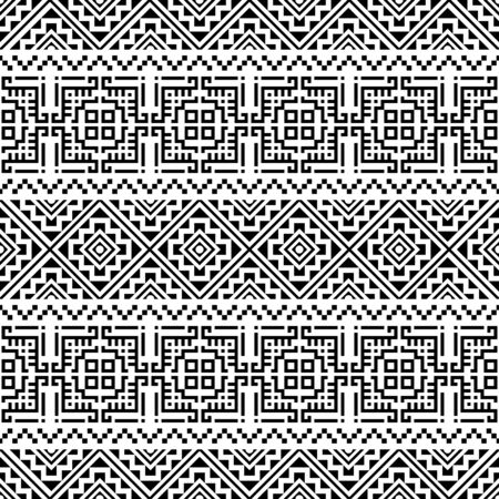 Illustration for Aztec Seamless ethnic pattern design vector background - Royalty Free Image