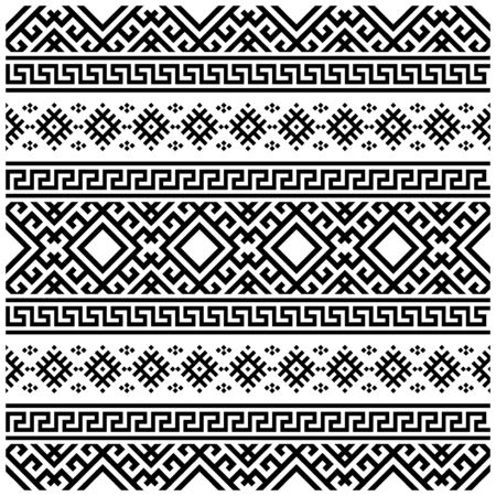 Illustration pour Moroccan Vector seamless pattern, abstract geometric background illustration, fabric textile pattern. Persian ethnic seamless pattern design - image libre de droit