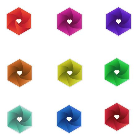 Illustration pour Set of minimalistic trendy shapes. Stylish vector logo emblems for Your design. Simple creative geometric signs collection. - image libre de droit