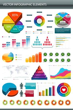 Info graphics collection  Information graphics design elements