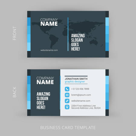Creative and Clean Vector Business Card Template