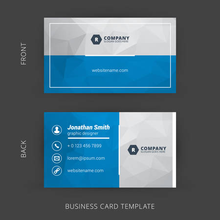 Foto de Creative and Clean Vector Business Card Template - Imagen libre de derechos