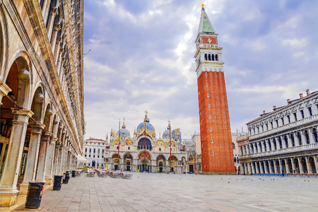 Morning view of San Marco Square in Venice. Italy