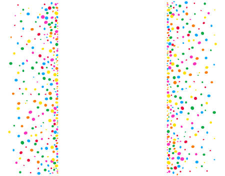 Illustration pour Vertical white background with colored dots and a space in the middle to write - image libre de droit