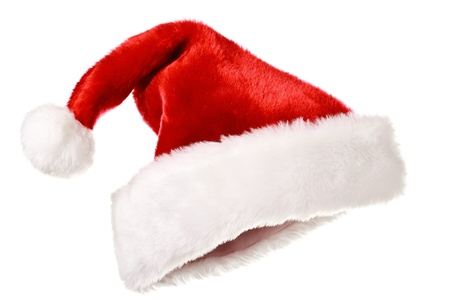 Foto de Santa's red hat isolated on white - Imagen libre de derechos