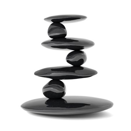 Photo pour Zen stones balance concept isolated on white - image libre de droit