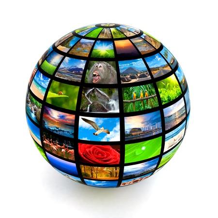 Photo pour Picture globe isolated - image libre de droit