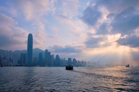 Photo pour Hong Kong skyline. Hong Kong, China - image libre de droit