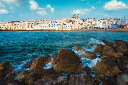 Photo for Picturesque Naousa town on Paros island, Greece - Royalty Free Image