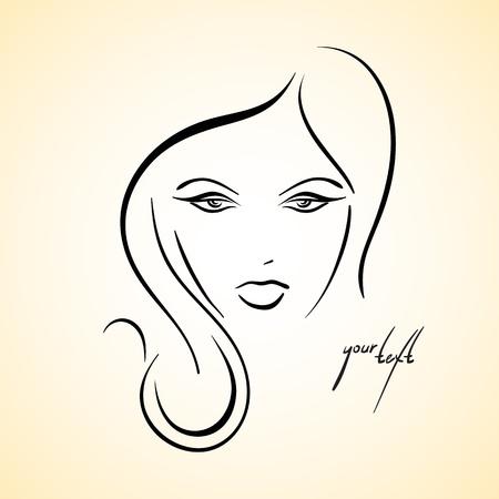 Stylish drawn girl sketch