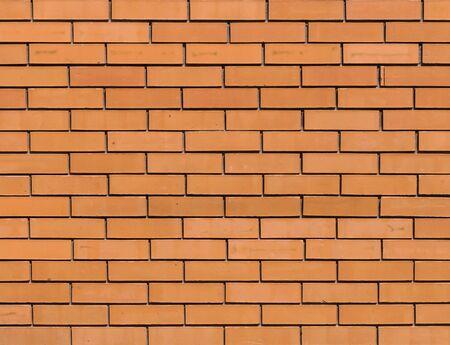 Photo pour Red orange brick wall for background texture - image libre de droit