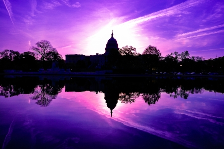 US Capitol, Washington DC, USA in sunrise