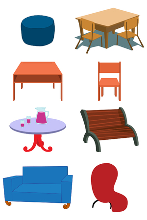 Assorted Furniture Equipment concept