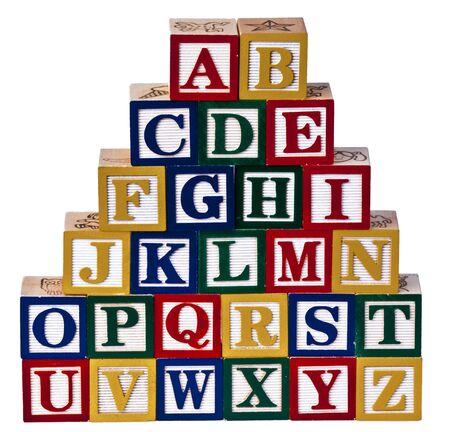 Foto de Alphabet Wooden Blocks - Imagen libre de derechos