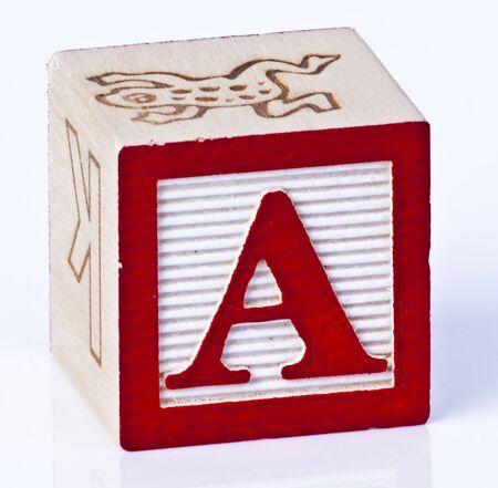 Photo pour Wooden Block Letter A - image libre de droit