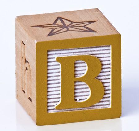 Wooden Block Letter B
