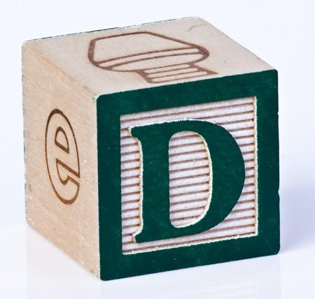 Wooden Block Letter D