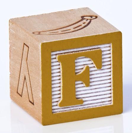 Wooden Block Letter F
