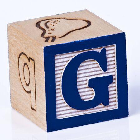 Wooden Block Letter G