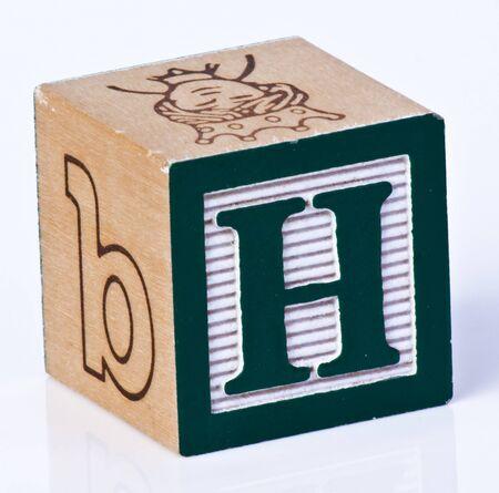 Wooden Block Letter H