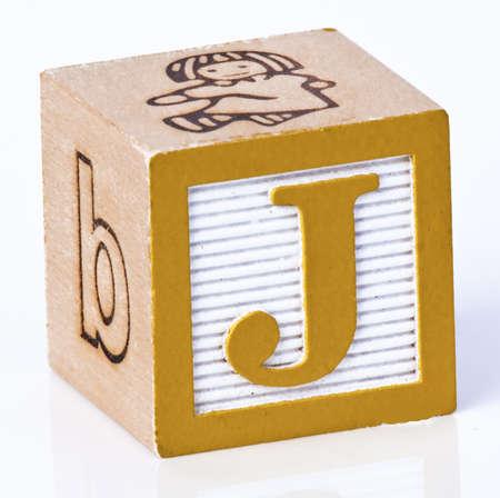 Wooden Block Letter J