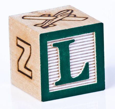 Wooden Block Letter L