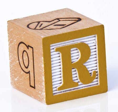 Wooden Block Letter R