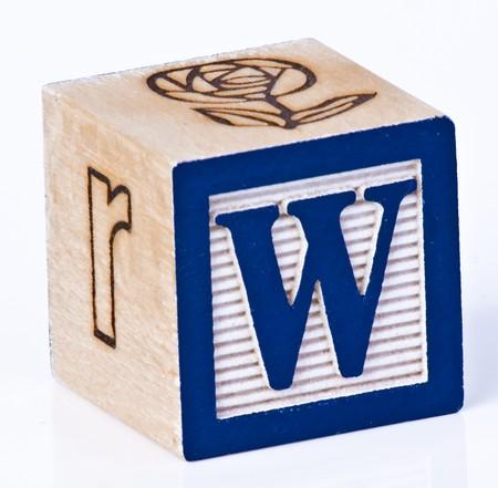 Wooden Block Letter W