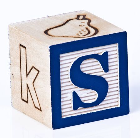 Single Childs Block Letter S