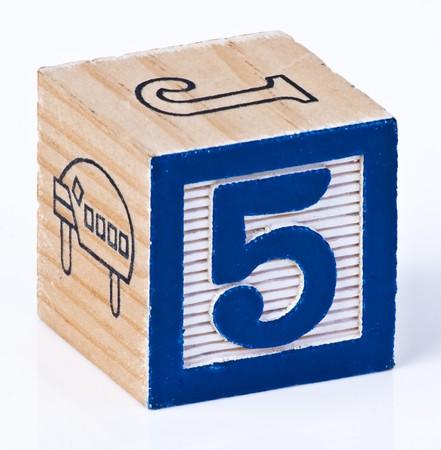 Photo pour Building Block Numer Sfive - image libre de droit