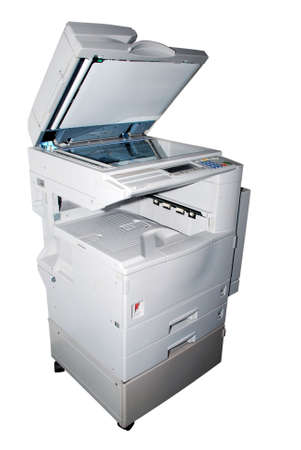 photocopy machine on the white background