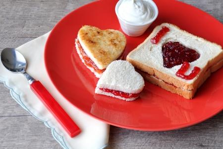 Foto de  I love you  breakfast - Imagen libre de derechos