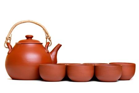 Tea set, isolated on white