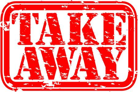 Illustration pour Grunge take away rubber stamp, vector illustration - image libre de droit
