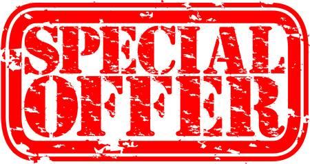 Grunge special offer rubber stamp, vector illustration