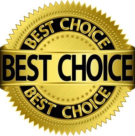 Illustration pour Best choice golden label, illustration - image libre de droit