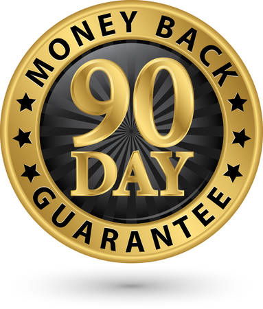 Vektor für 90 day money back guarantee golden sign, vector illustration - Lizenzfreies Bild