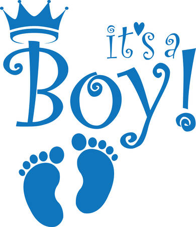 Ilustración de It's a boy banner, vector illustration - Imagen libre de derechos