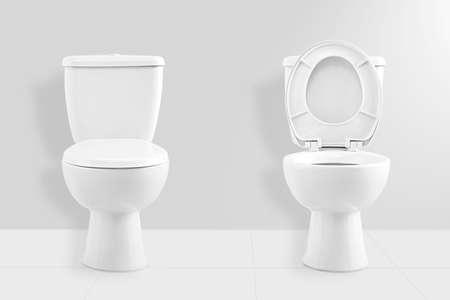 Foto de White toilet bowl - Imagen libre de derechos