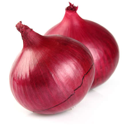 Onion on a white background