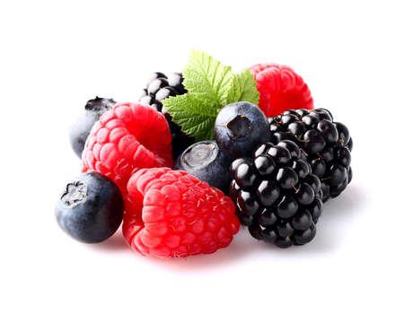 Mix berry in closeup