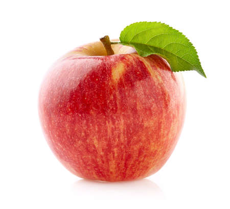 Photo for Ripe apple on white background - Royalty Free Image