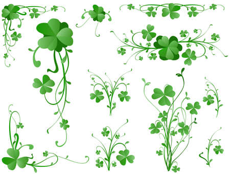 three leaves clover design elements